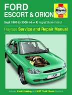 FORD ESCORT & ORION (1990 - 2000) - INSTRUKCJA NAPRAW