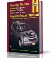 GM CHEVROLET EQUINOX, PONTIAC TORRENT 2005 - 2009 wyd. Haynes