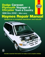 INSTRUKCJA DODGE CARAVAN, PLYMOUTH VOYAGER, CHRYSLER TOWN I COUNTRY (1996-2002)